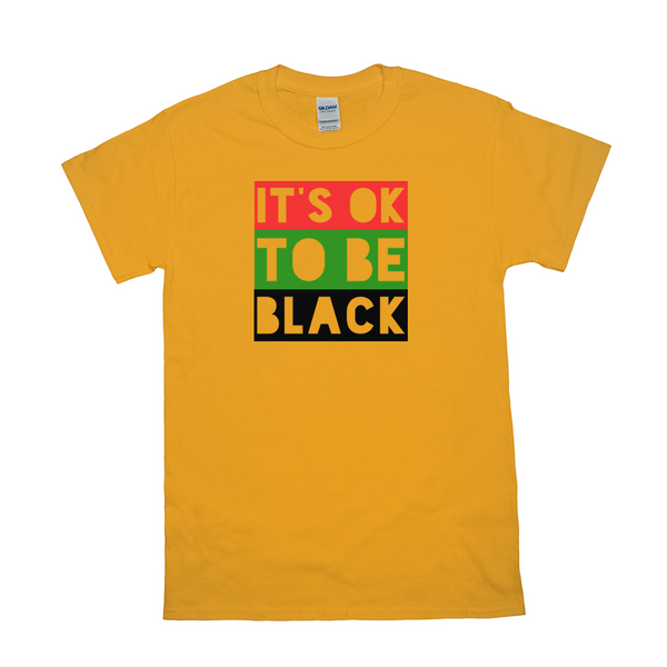 """It's OK to Be Black"" TRICOLOR BLOCK Tee Shirt"