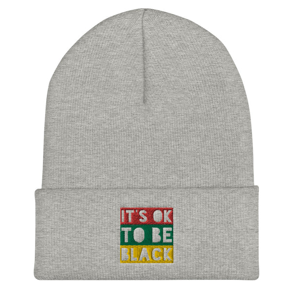 """It's OK To Be Black"" Tricolor Block Beanie"