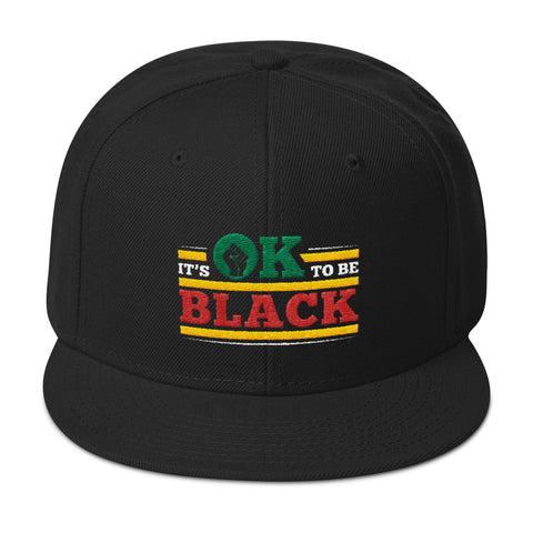 """It's OK to be Black"" Snapback Hat"