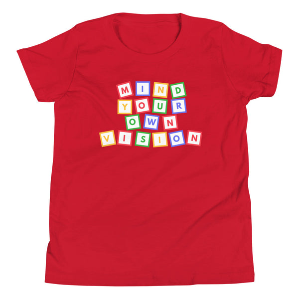 "KIDS ""Mind Your Own Vision"" Blocks Tee Shirt"