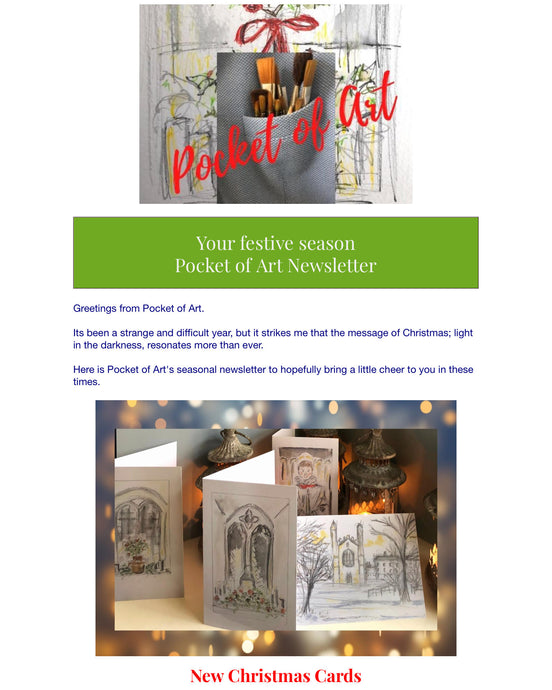 Seasonal News from Pocket of Art