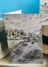 Load image into Gallery viewer, Greetings Card - Cambridge river view with punts