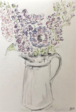 Summer flowers in a jug