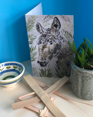 Palm Sunday Donkey Greetings Card