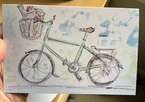 Cycle shopper greetings card