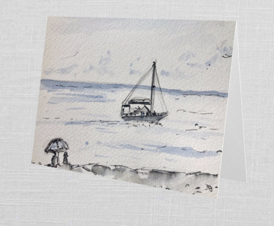 Drifting Away Greetings Card