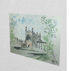 Kings College, Cambridge UK Greetings Card