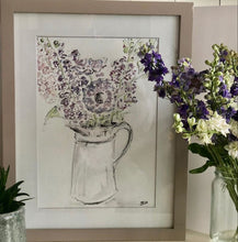 Load image into Gallery viewer, Summer flowers in a jug