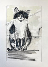 Load image into Gallery viewer, Arthur the Cat original watercolour framed