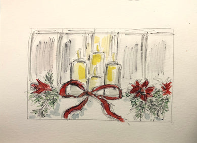 Candlelight Watercolour framed