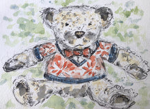 Load image into Gallery viewer, Teddy Bear Giles  in a Bowtie - Mounted
