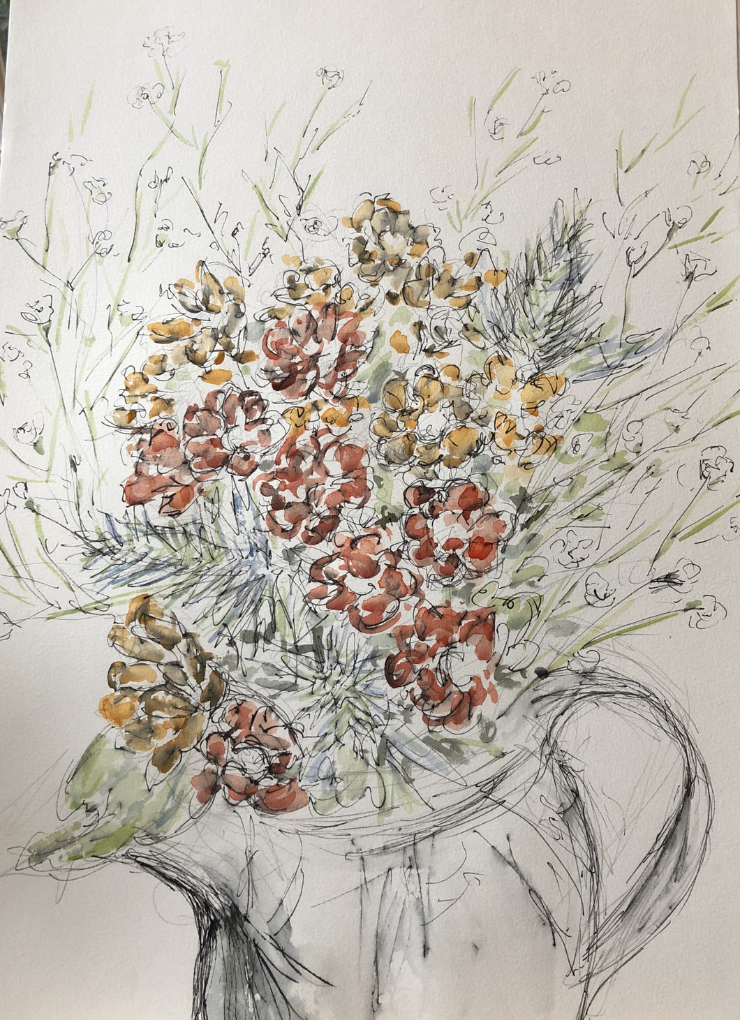 Autumnal Flowers in a jug