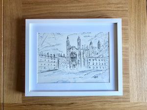 Kings College in the snow - SOLD