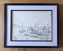 Load image into Gallery viewer, Fishing Boat and Sailboat, Woodbridge, Suffolk