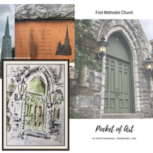 Load image into Gallery viewer, Green door of church, Chattanooga - 50% Sale