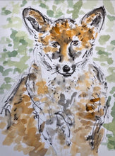 Load image into Gallery viewer, Mr Fox watercolour