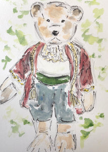 Teddy Bear Horatio watercolour