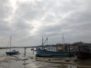 Fishing Boat and Sailboat, Woodbridge, Suffolk