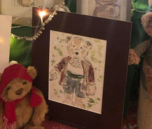 Load image into Gallery viewer, Teddy Bear Horatio watercolour