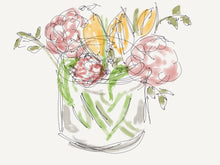 Load image into Gallery viewer, Flowers with tulips in a jar