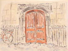 Load image into Gallery viewer, St Clement's Red Door in the snow, Cambridge, UK