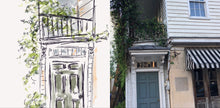 Load image into Gallery viewer, Flowered Verandah, Charleston, USA - 50% Sale