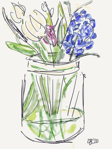 Spring Flowers in a jar