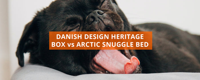 Danish Design Heritage Houndstooth Box Duvet vs Arctic Snuggle Dog Bed