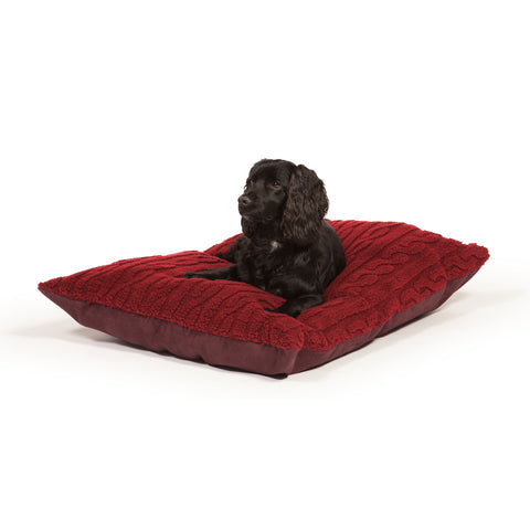 Danish Design Bobble Deep Duvet Dog Bed Damson Medium