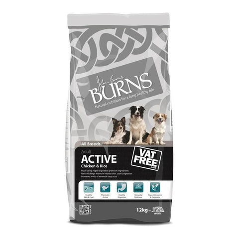 Burns Active For Working Dogs Chicken and Rice 12kg