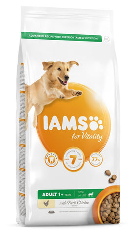 Iams For Vitality Adult Large Breed Dry Dog Food - Chicken - 12kg
