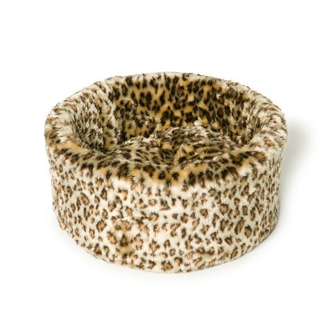 Danish Design Leopard Print Cat Cosy Bed Small