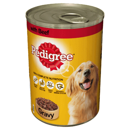 Pedigree Adult Wet Dog Food - Beef In Gravy - 12 x 400g