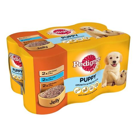 Pedigree Puppy Wet Dog Food - Mixed Selection In Jelly - 24 x 400g