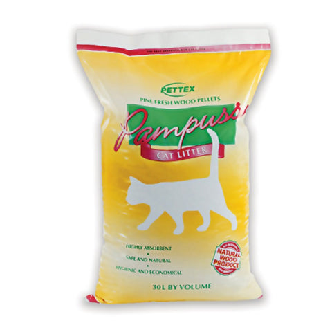 Pettex Pampuss Woodbase Cat Litter - 30 Litre