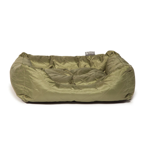 Danish Design Quilted Snuggle Dog Bed Green Large
