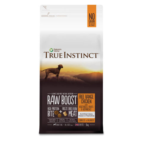 True Instinct Raw Boost Adult Dry Dog Food - Free Range Chicken - 5kg