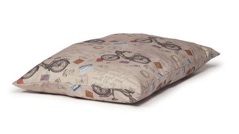 Danish Design Vintage Deep Duvet Dog Bed Bicycles
