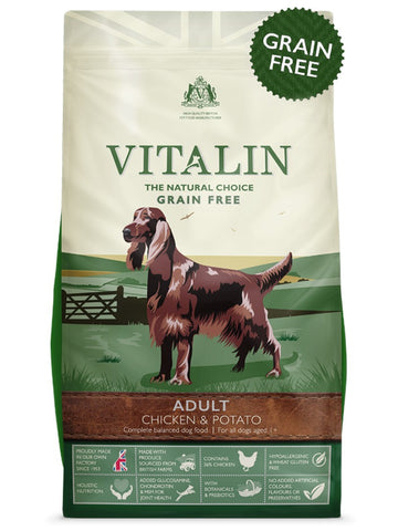 Vitalin Adult Dry Dog Food - Chicken & Potato - 12kg