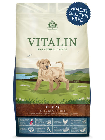 Vitalin Puppy Dry Dog Food - Chicken & Rice - 12kg