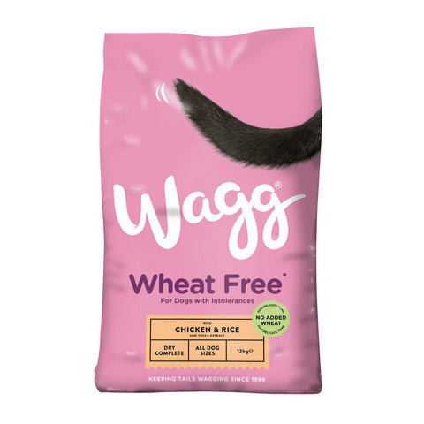 Wagg Wheat Free Dry Dog Food - Chicken & Rice - 12kg