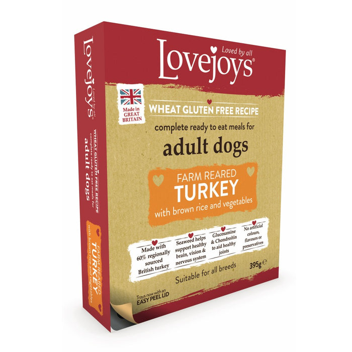 Lovejoys Original Adult Wet Dog Food - Turkey & Rice With Vegetables - 395g - PetMonkey