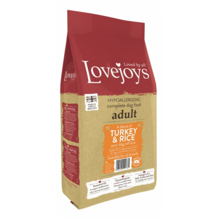 Lovejoys Original Adult Dry Dog Food - Turkey & Rice - 12kg - PetMonkey