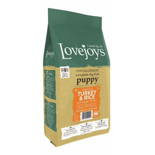 Lovejoys Puppy Hypoallergenic Dry Dog Food - Turkey & Rice With Vegetables - 12kg - PetMonkey