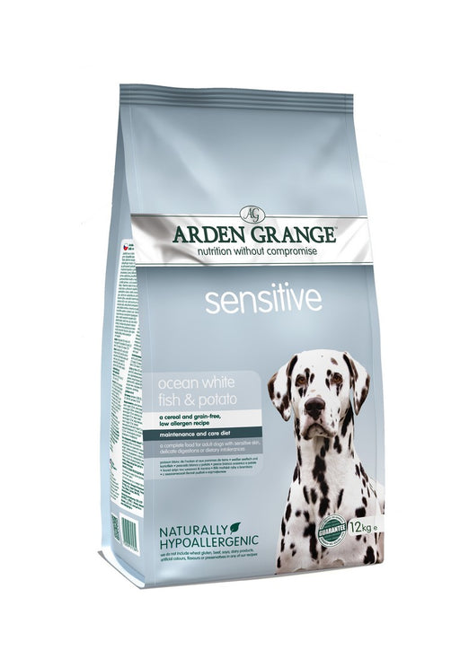 Arden Grange Hypoallergenic Adult Sensitive Dry Dog Food - Ocean White Fish & Potato - 12kg - PetMonkey