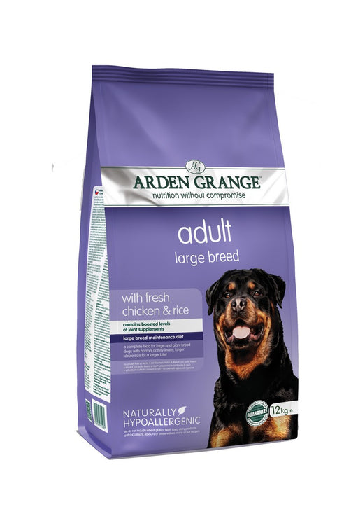 Arden Grange Hypoallergenic Large Breed Adult Dry Dog Food - Chicken & Rice - 12kg - PetMonkey