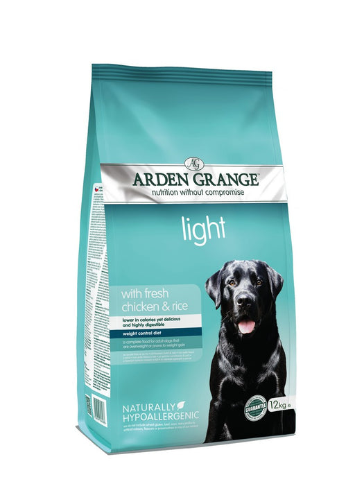 Arden Grange Hypoallergenic Light Adult Dry Dog Food - Chicken & Rice - 12kg - PetMonkey