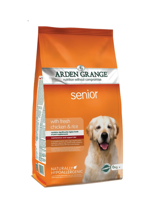 Arden Grange Hypoallergenic Senior Dry Dog Food - Chicken & Rice - 6kg - PetMonkey