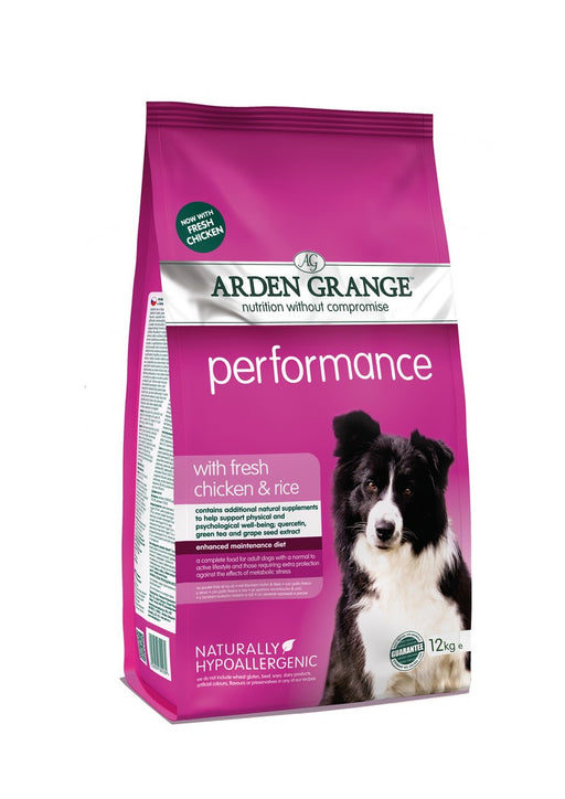 Arden Grange Hypoallergenic Adult Performance Dry Dog Food - Chicken & Rice - 12kg - PetMonkey