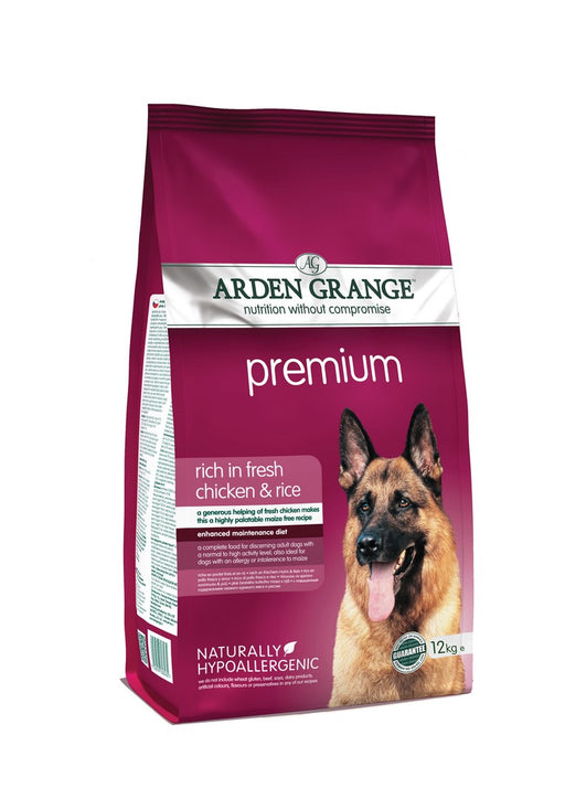 Arden Grange Hypoallergenic Premium Adult Dry Dog Food - Chicken & Rice - 12kg - PetMonkey